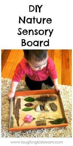 Laughing Kids Learn: DIY Nature Sensory Board