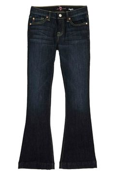 """The """"Kaylie"""" Slim Fit Bootcut Jeans, from designer 7 for all Mankind, brings a retro vibe to your daughter's outfits, and the Midnight New York Dark wash means they'll pair with any girls top."""