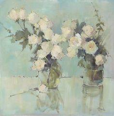 Les Roses Parisiennes by Nancy Franke Oil ~ 40 x 40