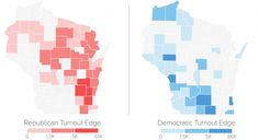 Map of the democratic primary vs. Republicans