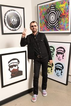 Ringo Starr [Photo by Steve Eichner] can we all please ogle his yellow submarine slip on vans - Xmas wishlist. I hope there's still available stock for me!