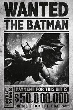 Planetacomic: Muñecos - DC Comics: Posters - BATMAN WANTED 4,99€
