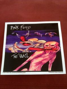 "Pink Floyd The Wall 5""x4 5/8"" STICKER DECAL deadstock new old stock"