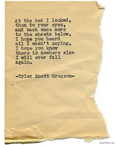 Typewriter Series #1009byTyler Knott Gregson *Chasers of the Light, is available throughAmazon,Barnes and Noble,IndieBound,Books-A-Million,Paper SourceorAnthropologie*