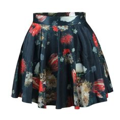 310c7ed4df Elastic Waist Printed Delicate Flared Mini Skirt - Was And Now - online  shopping with discounted prices