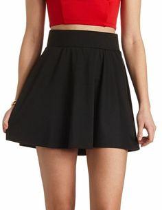 Solid Skater Skirt: Charlotte Russe