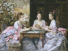 Sir John Everett Millais, Bt, 'Hearts are Trumps' 1872