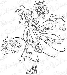 Whimsy Stamps - Rubber Stamps, Clear Stamps, and Fairy Coloring Pages, Adult Coloring Pages, Coloring Sheets, Coloring Books, Whimsy Stamps, Baby Fairy, Colorful Drawings, Copics, Digital Stamps
