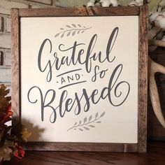 Grateful and Blessed Wood sign Home Decor Fall Decor Autumn Decor wood signs farmhouse autumn sign DIY Wood Signs Autumn Blessed Decor Fall Farmhouse grateful Home Sign Signs Wood Wood Signs Home Decor, Diy Wood Signs, Rustic Wood Signs, Home Signs, Christmas Wood, Christmas Signs, Wood Craft Patterns, Fall Signs, Diy Frame