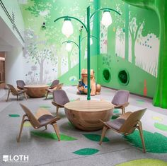 nationwide children's hospital waiting area images | Nationwide Children's Hospital: The Magic Forest, an interactive play ...