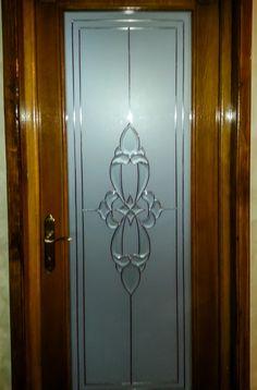 Wooden Window Design, Wooden Glass Door, Etched Glass Door, Front Door Design Wood, Etched Mirror, Entry Doors With Glass, Mirror Glass, Glass Doors, Glass Etching Designs
