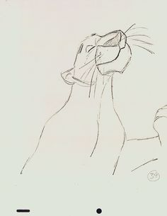 Bagheera, Jungle Book, Disney.  Animation sketch by Milt Kahl
