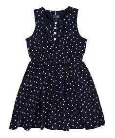 Navy Flower Dress - Girls by Name It Kids on #zulilyUK