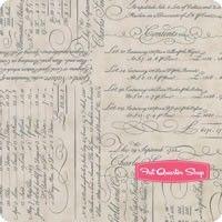 Quill Parchment Script Ledger Yardage <br/>SKU
