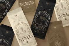 Palmera Roasters on Behance Coffee Shop Branding, Cafe Branding, Branding Ideas, Laguna Beach, Tropical, Graphic Design Branding, Best Coffee, Logo Vintage, Vintage Bag