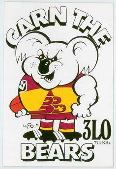 Brisbane Bear Weg Football Sticker Brisbane, Dad's Army, Australian Football, Football Team Logos, Art Logo, Lions, Penguins, Artwork, Sports
