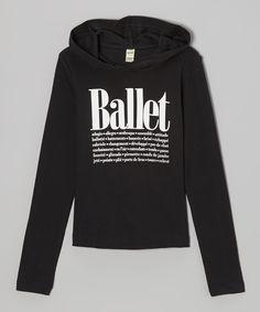 Black 'Ballet' Hoodie - Women