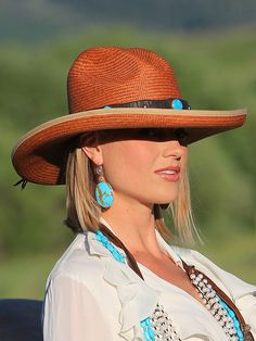 Copper Creme Panama Hat from Brit West - #CowgirlChic