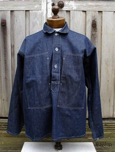 S Army Denim pullover shirts- deadstock and worn – Ragtop Vintage Clothing Army Shirts, Work Shirts, Vintage Jeans, Vintage Outfits, American Vintage Clothing, Americana Vintage, Denim Pullover, Work Jackets, Look Fashion