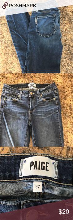Paige jeans size 27 Size 27 good condition Paige jeans! Skyline Ankle Peg Paige Jeans Jeans Straight Leg