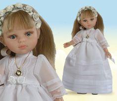 Muñeca Carla de comunión. Muñeca de la colección Las amigas by Paola Reina. #Muñeca #dolls #comunión #boda #wedding #preciosa