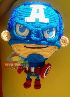 En Viva Piñata Factory siempre nos gusta estar al día les presentamos nuestro nuevo modelo de Capitán América Avengers. Que opinan?