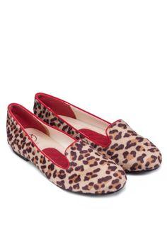 BF SOLE Animal Printed Ballerina Loafers 豹紋平底鞋