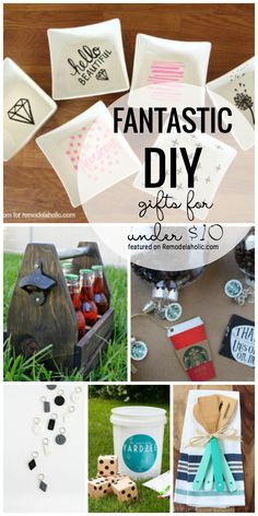 Get Creative This Holiday Season And Make Your Own Gifts Weve Got Fantastic Diy Gifts For Under 10 Featured On Remodelaholic Com