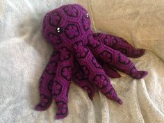 This is a digital pattern for a crocheted African Flower Octopus. Finished, the…