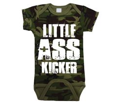 Little Ass Kicker Infant Baby One Piece Newborn Camo