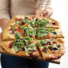 Quick Beer-Crust Pizza : King Arthur Flour... solid crust recipe.