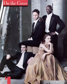 Joaquin Phoenix, Vince Vaughn, Natalie Portman and Djimon Hounsou photographed by Annie Leibovitz for Vanity Fair, April 1998