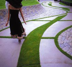 Interesting concrete paving. Pinned to Garden Design - Paving & Stairs by Darin Bradbury.