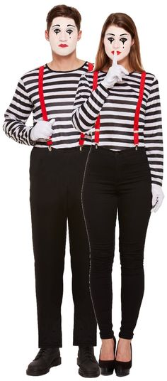 Perfect outfit for any Circus themed party, Greatest Showman, Tail coats, Ring masters. Circus Party Costume, Circus Halloween Costumes, Clown Costume Women, Mime Costume, Carnival Themed Party, Diy Halloween Costumes For Women, Carnival Costumes, Costume Dress, Retro Halloween