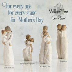 Mother's Day 2015 Gift Ideas from Willow Tree by Susan Lordi. Give the gift of love and caring to mom this year. Willow Tree Figures, Willow Tree Angels, Mothers Day Saying, Happy Mothers Day, Thank You Mom, I Love You Mom, Mother Day Gifts, Gifts For Mom, Beautiful Gifts