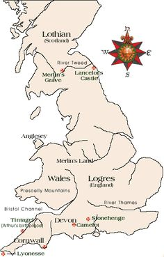 Arthurian Period Map   King Arthur & The Knights of the Round Table