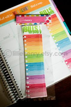 Monthly Bill Tracker Stickers for your Erin Condren by lilliehenry on etsy. Love these!!
