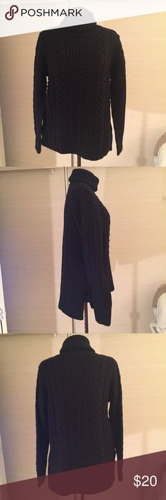 Ann Taylor Turtleneck Excellent used condition. MATERIALS: 61% Nylon, 21% Merino Wool, & 18% Alpaca. MEASUREMENTS: Body Width Side Seam to Side Seam - 21 inches, Back Length - 27 inches, Front Length - 23-1/2 inches. Ann Taylor Sweaters Cowl & Turtlenecks
