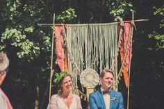 Festival wedding in Herberg Het Volle Leven Festival Wedding, Boho Wedding, Backdrops, Backgrounds