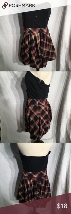 Wet Seal strapless dress Plaid and black skirt Wet Seal Dresses Strapless