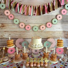 Donut forget to add this hand painted wood, donut stack stand to your donut party shopping list! The stand comes in multiple sizes that hold approximately 6 donuts per stack (depending on donut size):  2 Stacks: 10w x 5 1/2d x 9h 3 Stacks: 15w x 5 1/2d x 9h 4 Stacks: 20w x 5 1/2d x