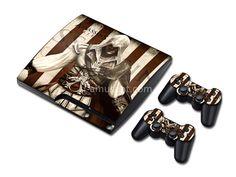 Skin sticker PS3 Slim - Assassin's Creed Assassin's Creed, Ps3, Cufflinks, Slim, Stickers, Accessories, Wedding Cufflinks, Decals, Jewelry Accessories