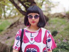 Kanaho's Show: Womens Cute Eye Lash Fashion Oval Sunglasses 9385