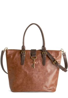 Keystone State your Claim Bag. Singing along to music in the car, you peacefully watch Pennsylvania's hills roll by with this cognac-brown, vegan faux-leather purse on your lap. #brown #modcloth