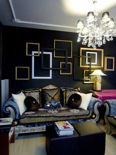 Black Wall Decor diy wall decor-empty picture frames as #wall #art | pinterest most