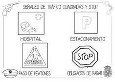 Mi grimorio escolar: LAS SEÑALES CUADRADAS DE TRÁFICO Transportation, Preschool, Diagram, Classroom, Science, Activities, Valencia, Signs, Parking Lot