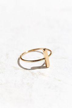 Circle   Bar Ring - $10.00