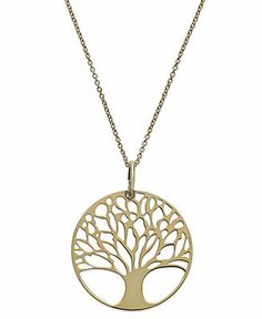 Giani Bernini 24k Gold over Sterling Silver Tree of Life Pendant Necklace - Necklaces - Jewelry & Watches - Macy's