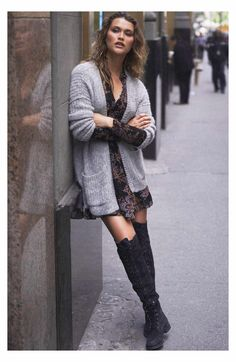 Lock down your cozy-chic style with a soft cardigan featuring an open front and relaxed drop-shoulder styling