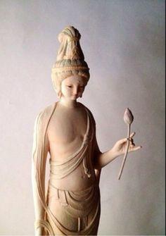 Yoshimasa Tsuchiya Buddha Kunst, Buddha Art, Buddha Sculpture, Sculpture Art, Buddha Figures, Japanese Illustration, Religious Art, Asian Art, Buddhism